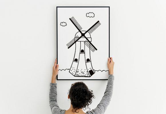плакат за визуална стимулация на новородено