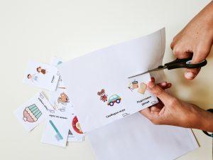 Визуални разписания - изрязване на карти